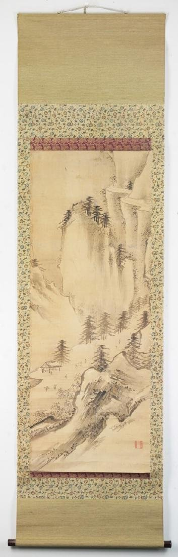A CHINESE PAPER HANGING PAINTING SCROLL BY YANG LIU - 4
