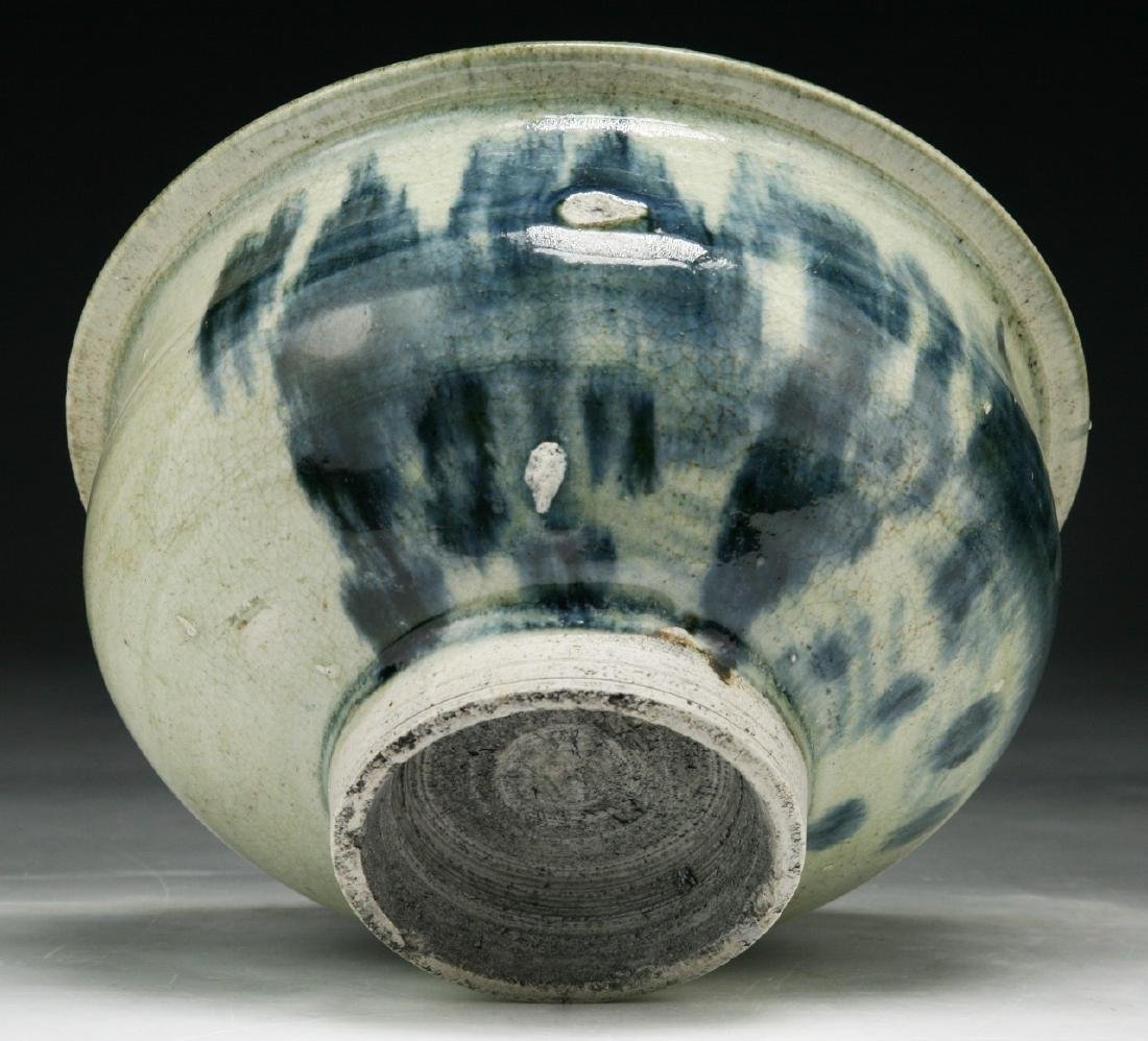 A CHINESE BLUE & WHITE PORCELAIN JAR - 4