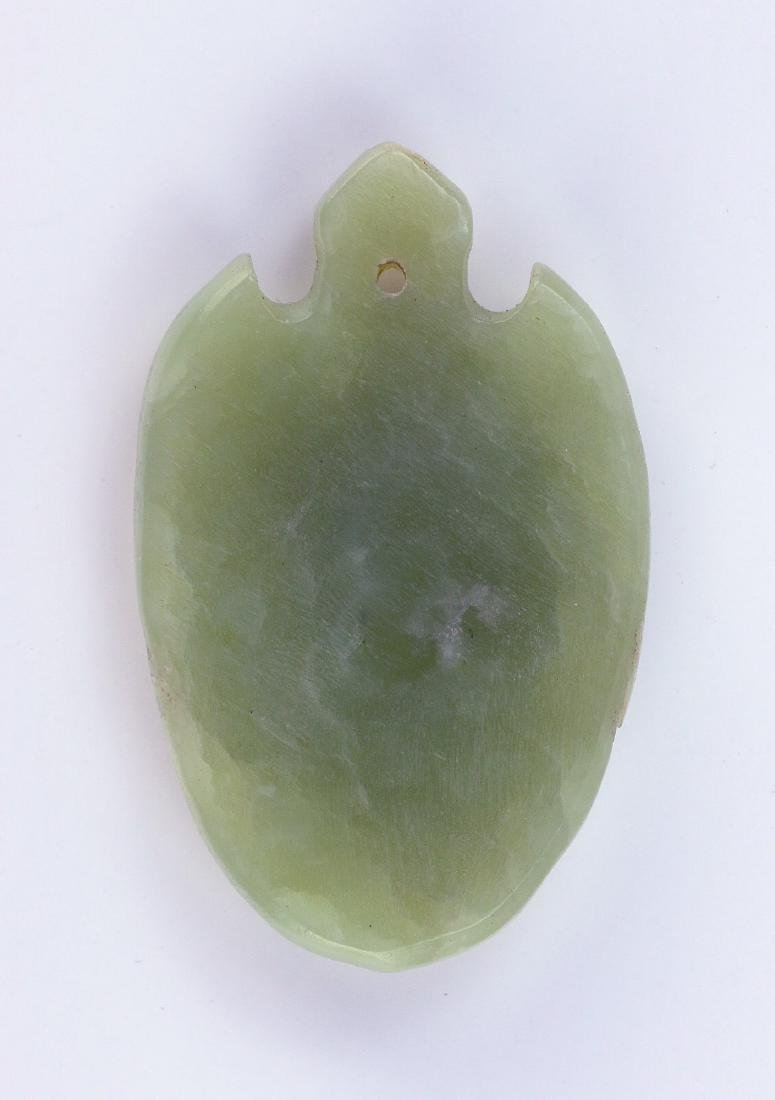 A CHINESE ARCHAIC-STYLE CARVED JADE PENDANT - 2