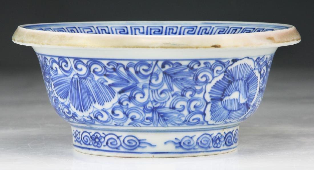 A JAPANESE BLUE & WHITE PORCELAIN BOWL