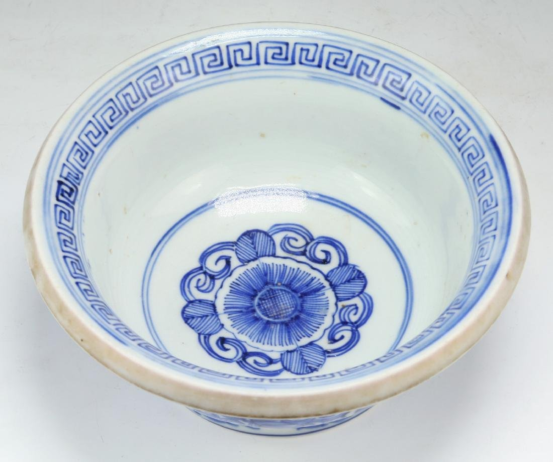 A JAPANESE BLUE & WHITE PORCELAIN BOWL - 3