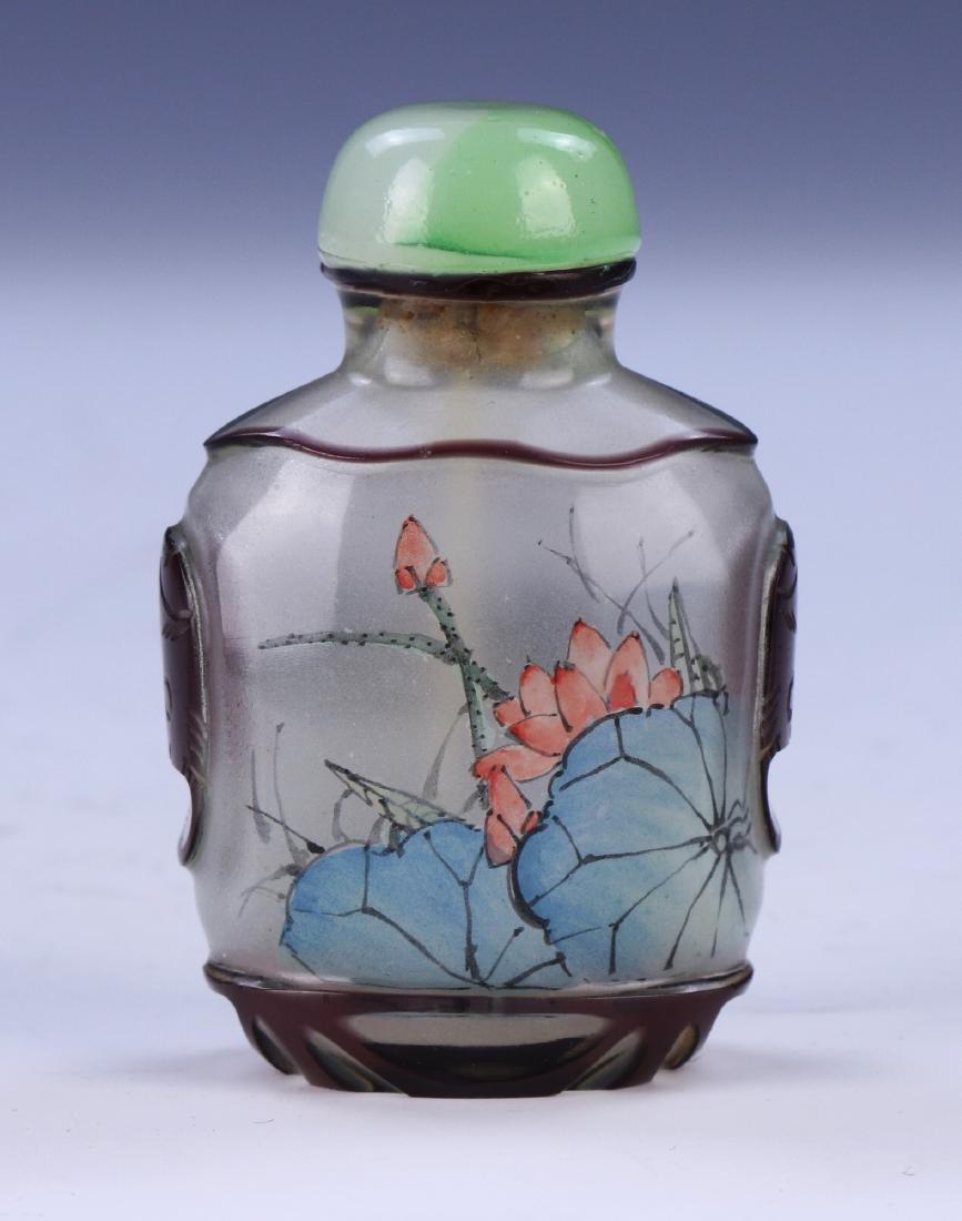 A CHINESE PEKING GLASS SNUFF BOTTLE - 2
