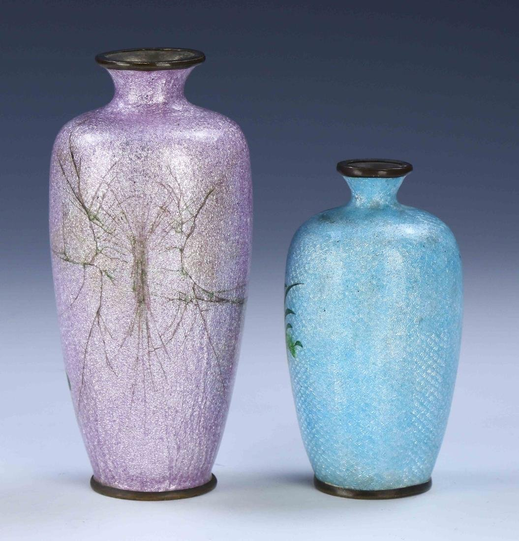 TWO (2) JAPANESE CLOISONNE VASES - 2
