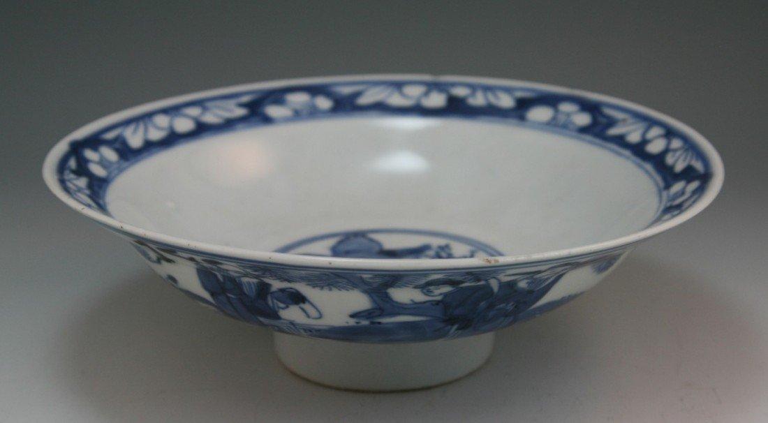 8: Chinese Kangxi-style Blue & White Porcelain Bowl