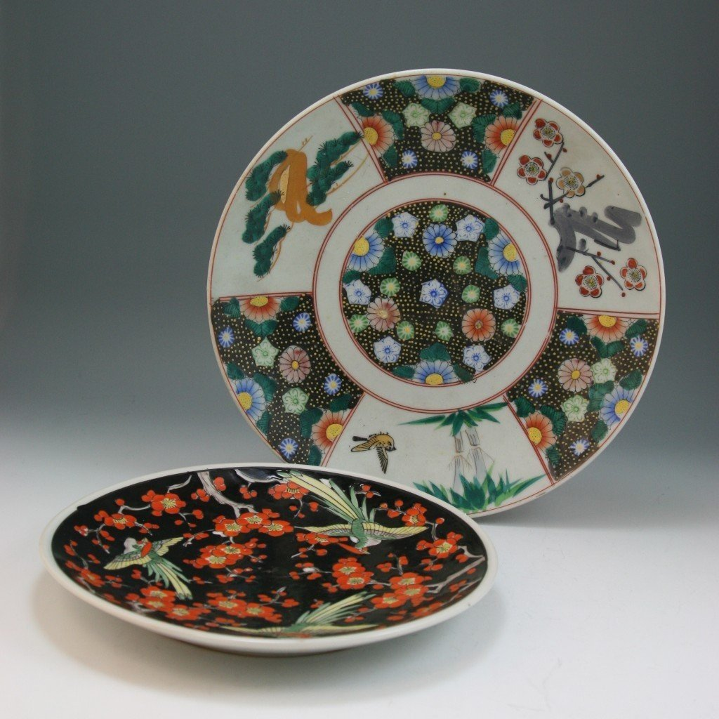 14: Two Antique Japanese Famille Rose Porcelain