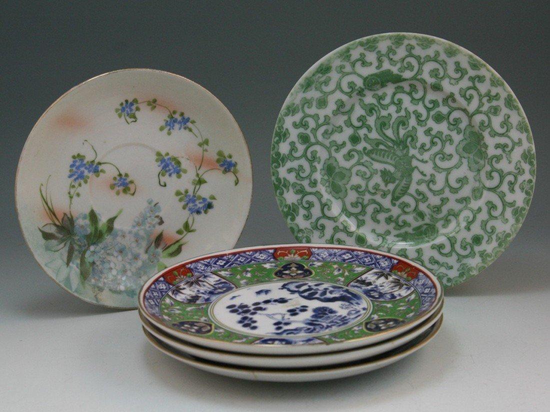 17: Five Old Japanese Famille Rose Porcelaim Plates