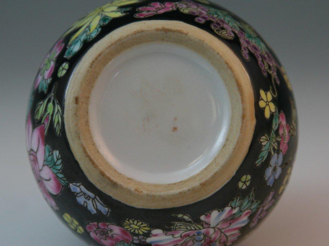 34: Chinese Millefleur Famille Noire Porcelain Jia - 2