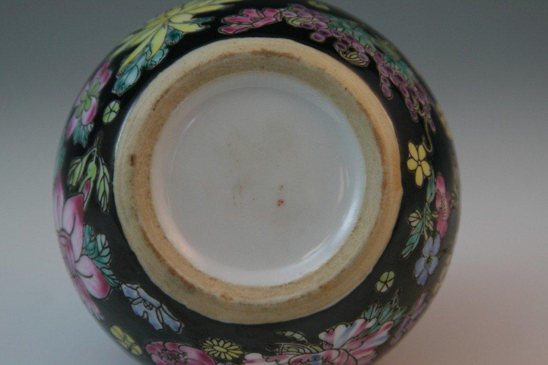 34: Chinese Millefleur Famille Noire Porcelain Jia - 3