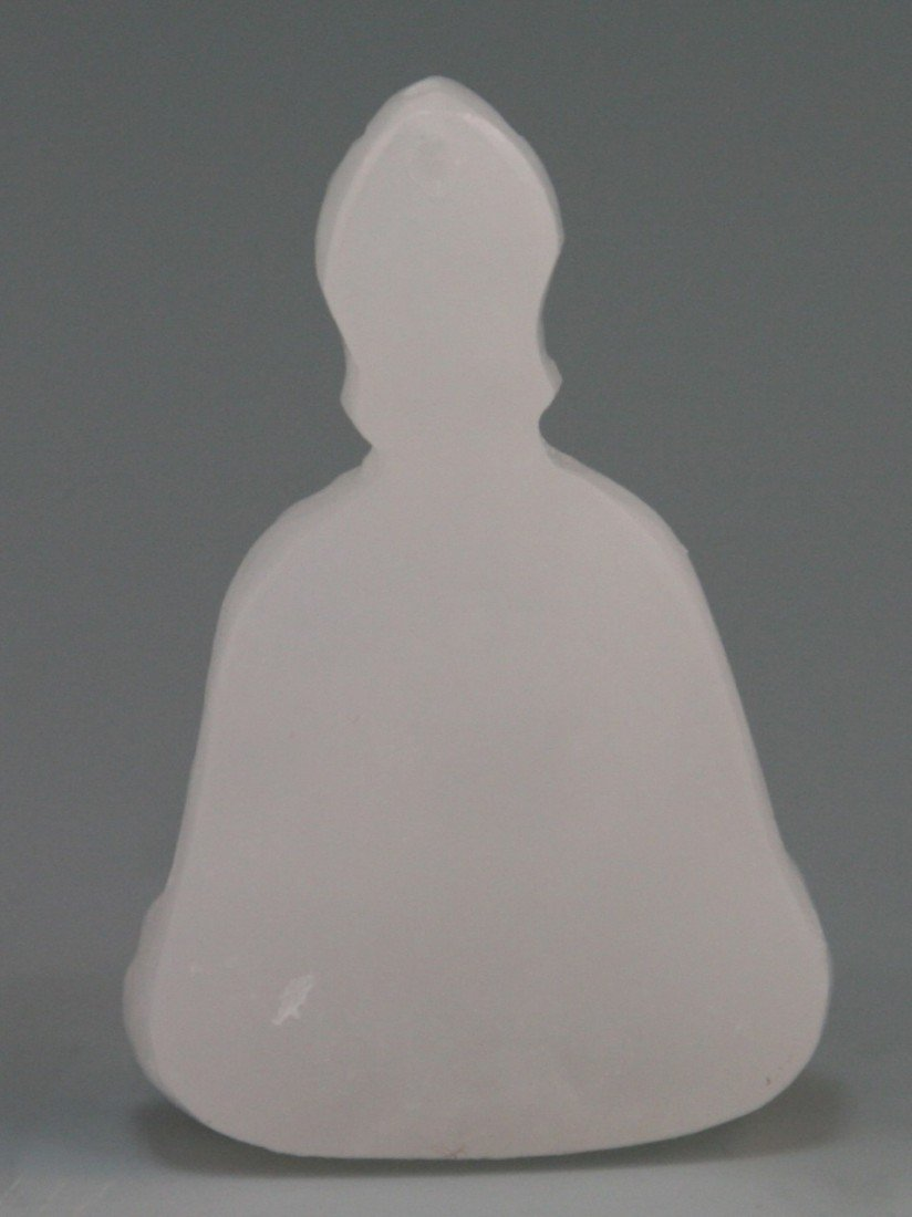 105: Chinese Carved White Jade Pendant - 2