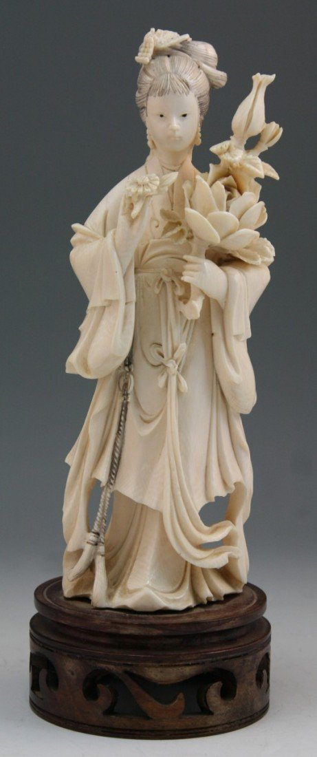 198: Chinese Carved Ivory Beauty