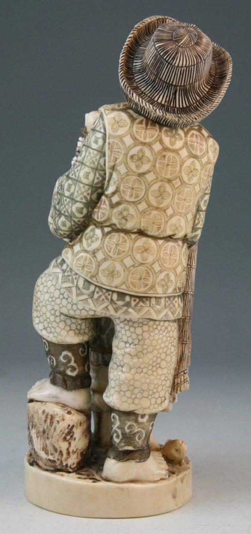 272: Ivory Okimono Group: Man and Child - 3