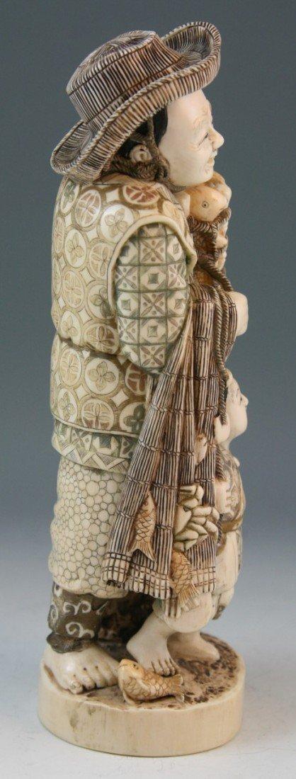 272: Ivory Okimono Group: Man and Child - 4