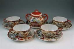 308: Set of Japnese Antique Imari Porcelain Teacups
