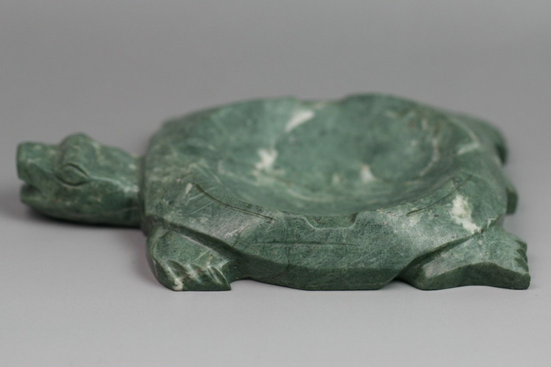 2: Chinese Carved Songhua Soap Inkstone Turtle