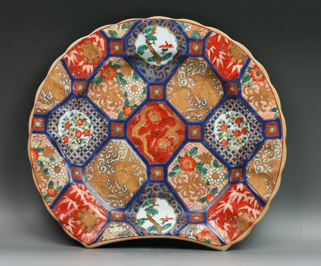 42: Chinese Famille Rose Porcelain Barber'S Plate