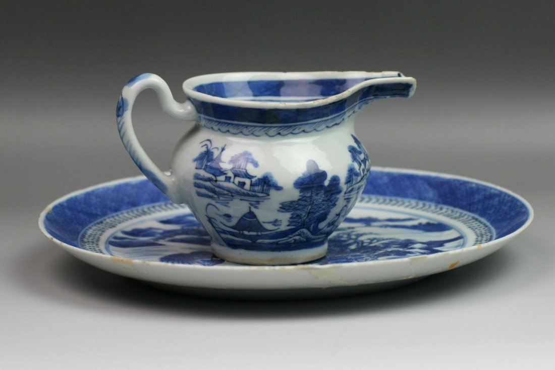 45: Chinese Qing Export Blue&White Porcelains