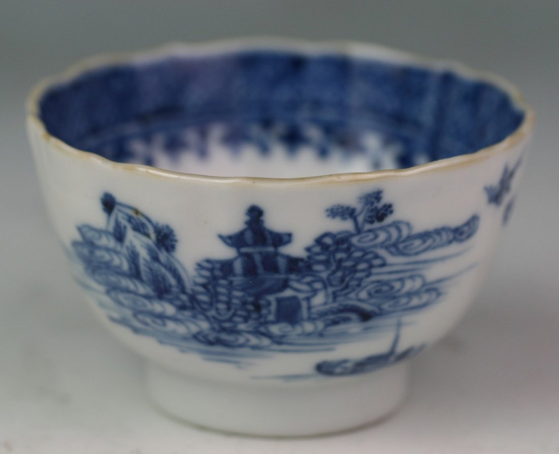46: Chinese Antique Export Nanjing B&W Porcelain Bowl