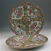 54 Pair Chinese Old Rose Medallion Porcelain Plates
