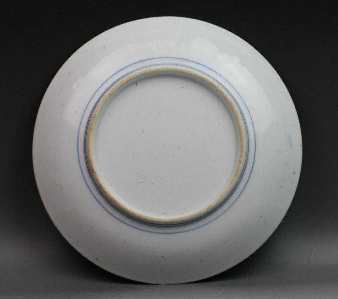 61: Two Japanese Antique Arita B&W Porcelain Plates - 3