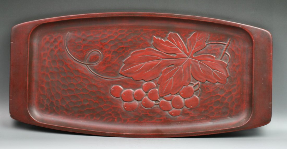 75: Japanese Kamakura Carved And Lacquered Plate