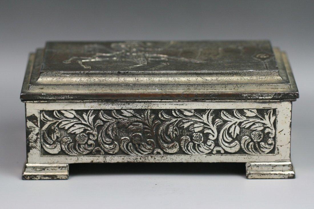 77: Fine Japanese Antique Silvered Trinket Box