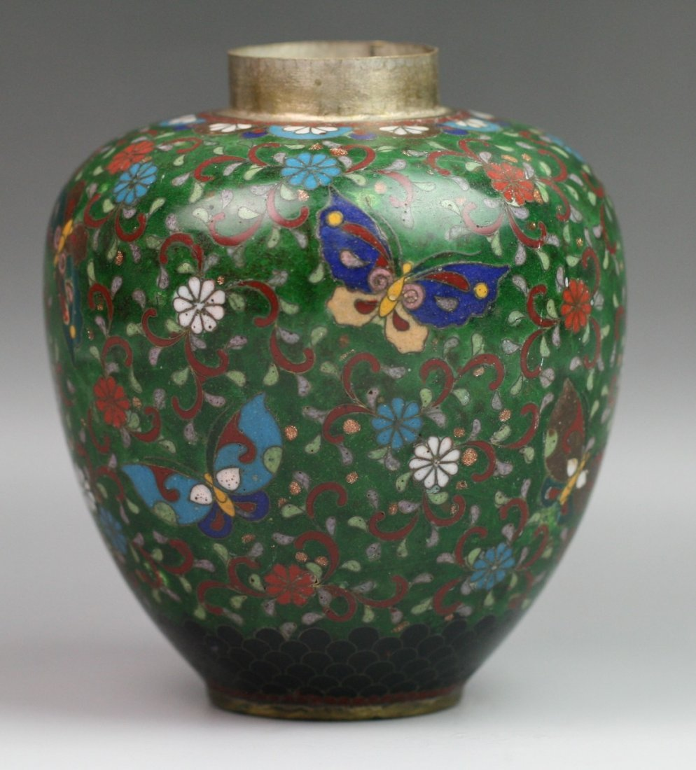 79: Antique Japanese Cloisonne Jar Meiji Period