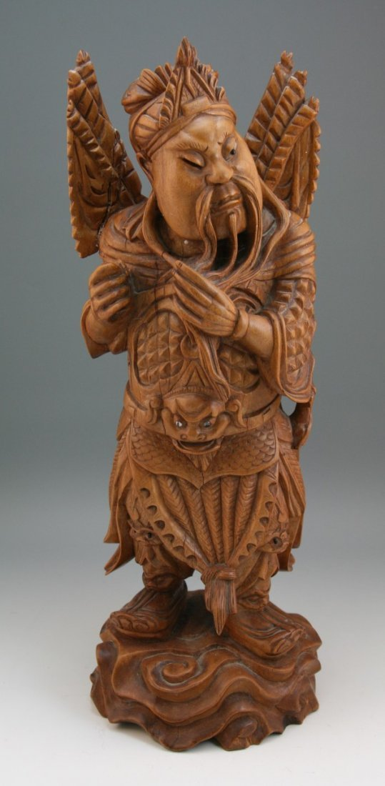 87: Japanese Box Wood Hand Carved Figure