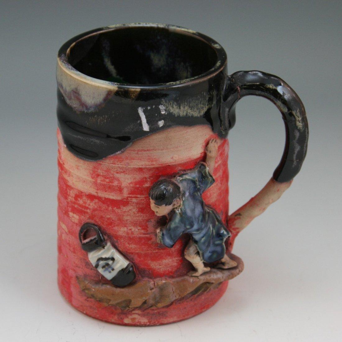 88: Antique Japanese Sumida Gawa Porcelain Mug