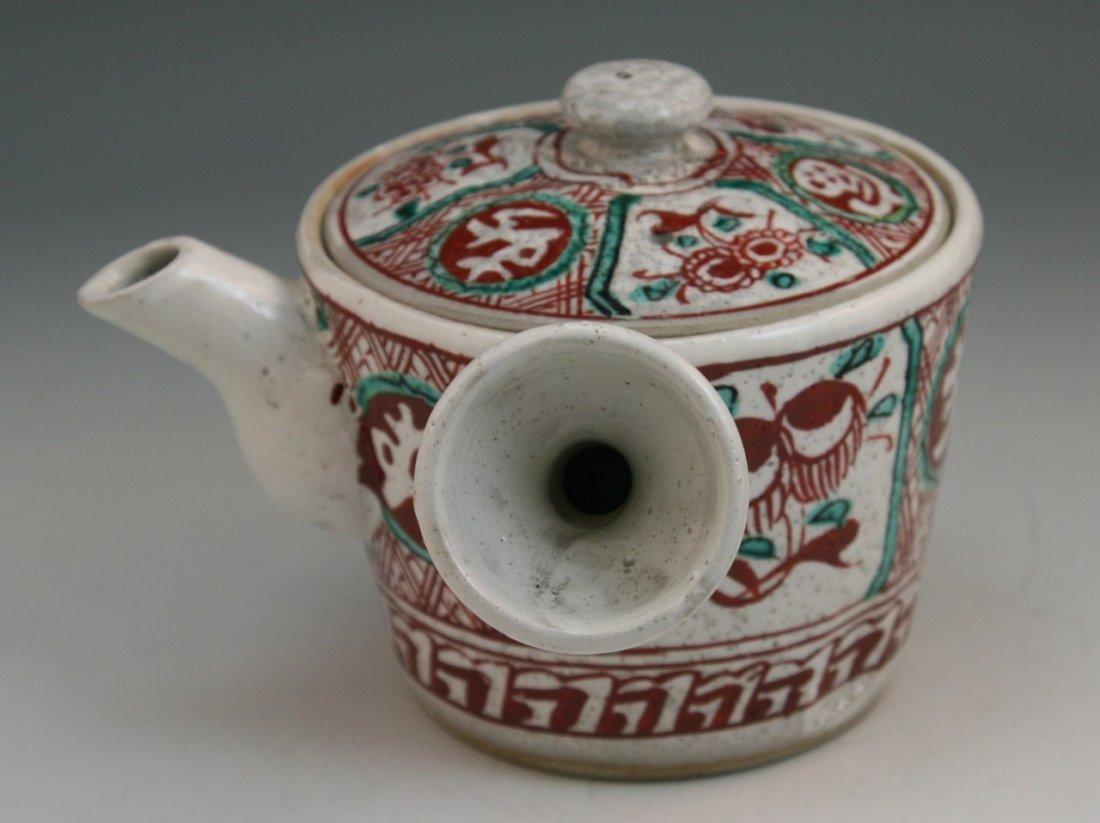 94: Japanese Antique Handled Porcelain Teapot