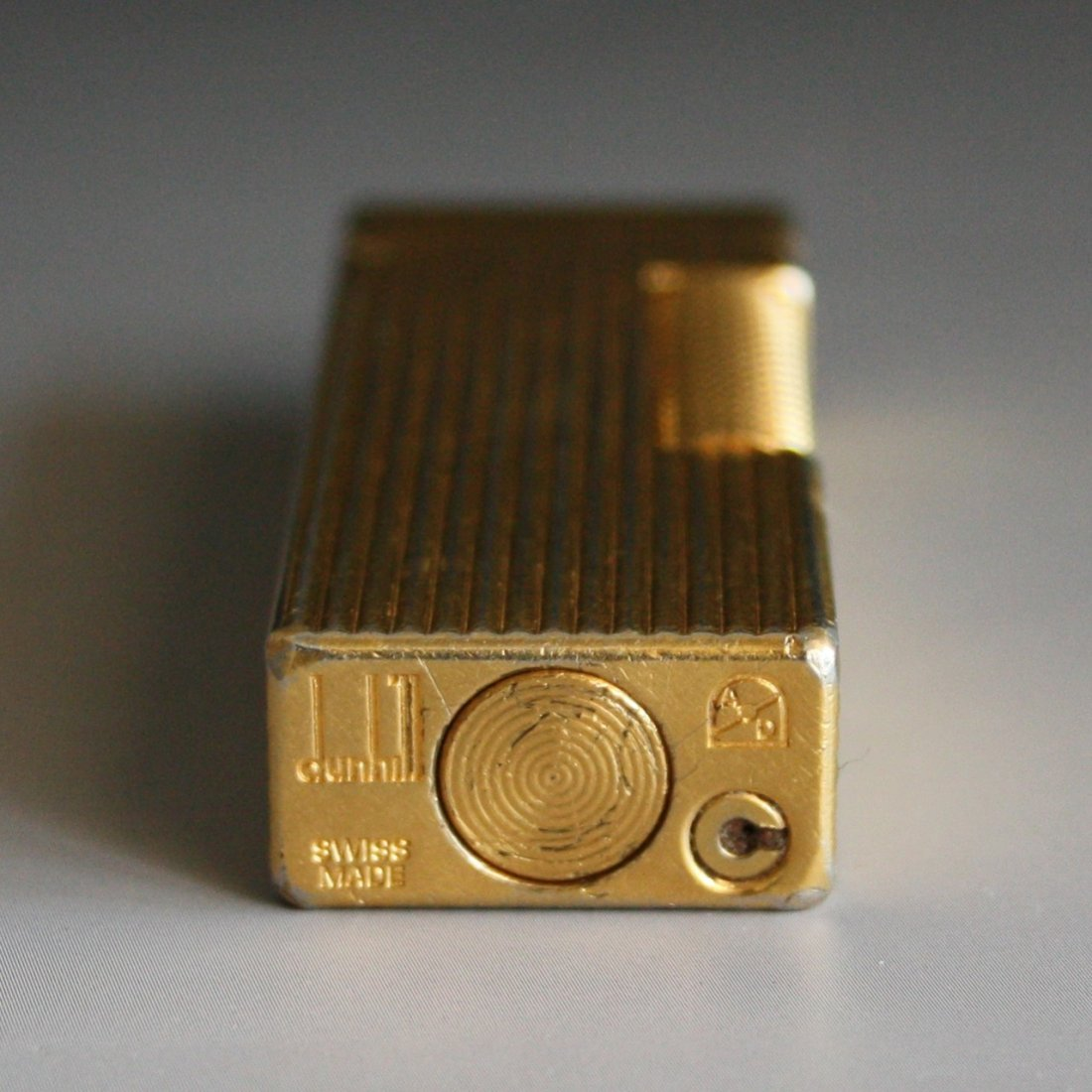 347: Vintage Swiss Dunhill Gold Plated Lighter - 5