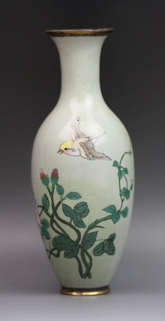1: Antique Japanese Hand-Painted Cloisonne Vase