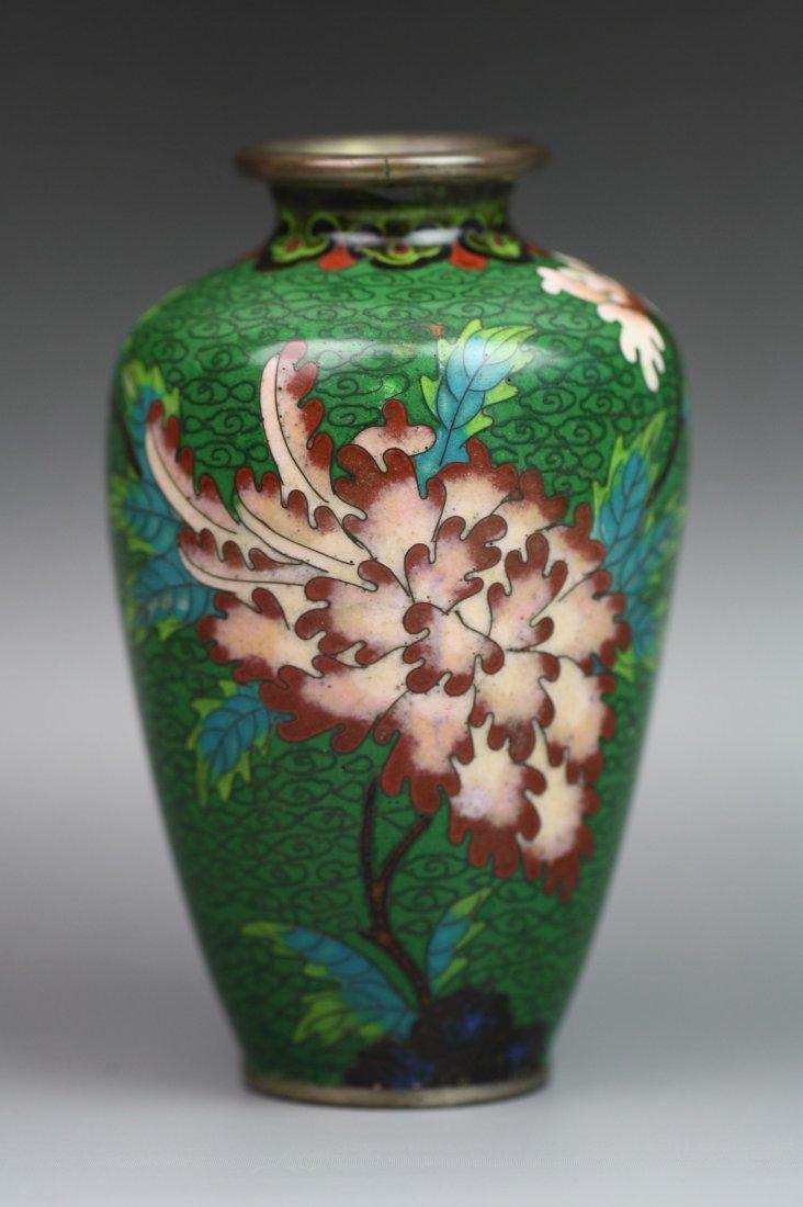 2: Japanese Cloisonne Silver Bodied Vase