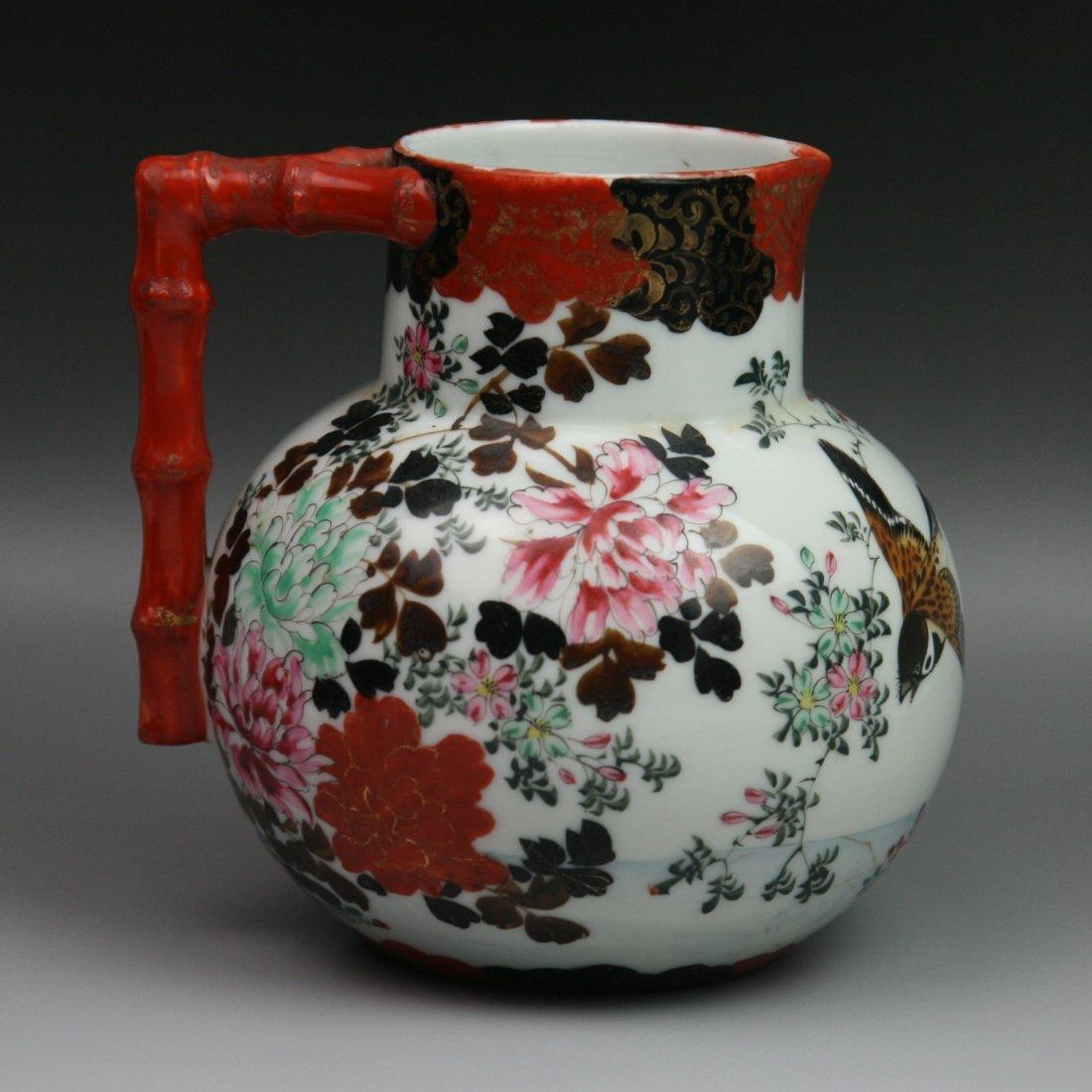 4: Japanese Antique Seto Gilt Porcelain Pitcher