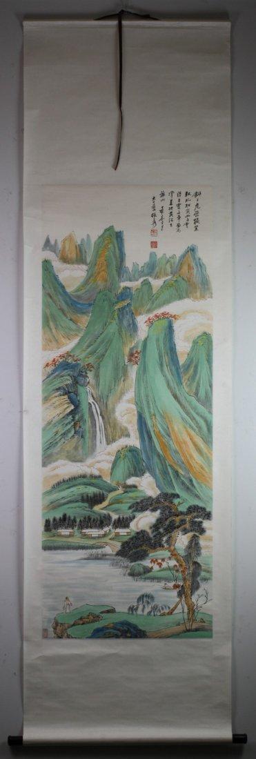 343: A Fine Painting Hanging Scroll By Zhang Daqian