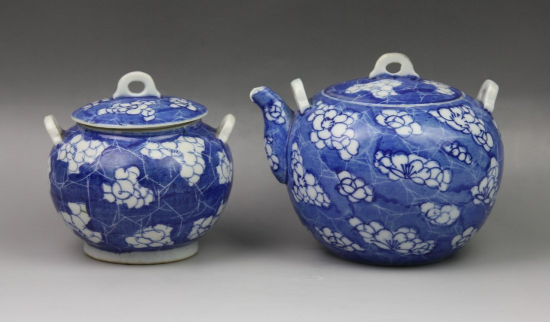 6: Tea Set Of Two Chinese Blue & White Porcelains