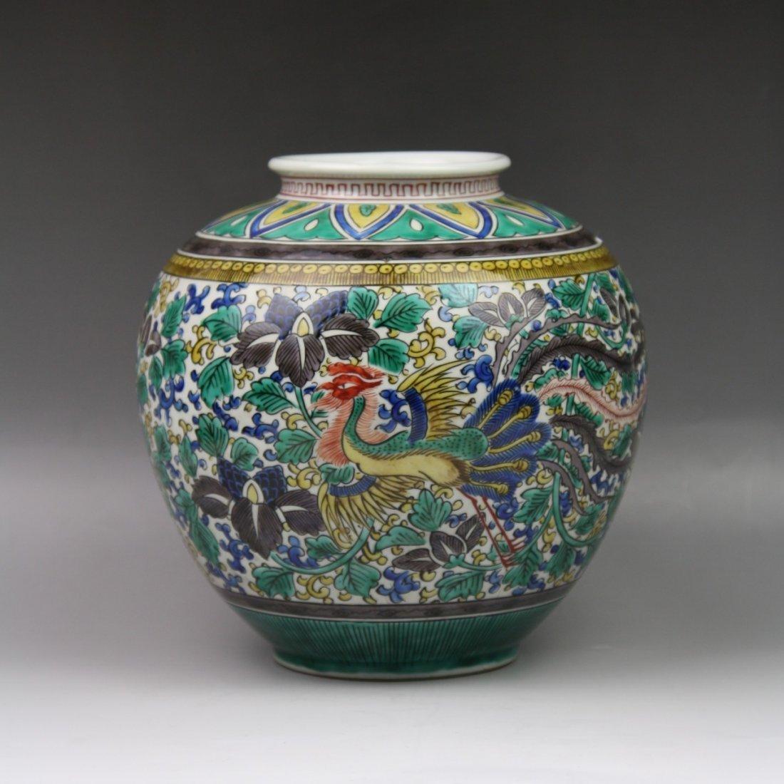14: A Japanese Kutani Porcelain Jar