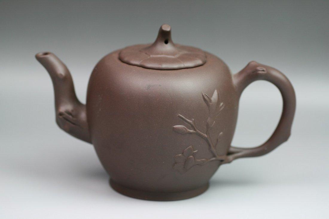 21: A Chinese Vintage Zisha Teapot