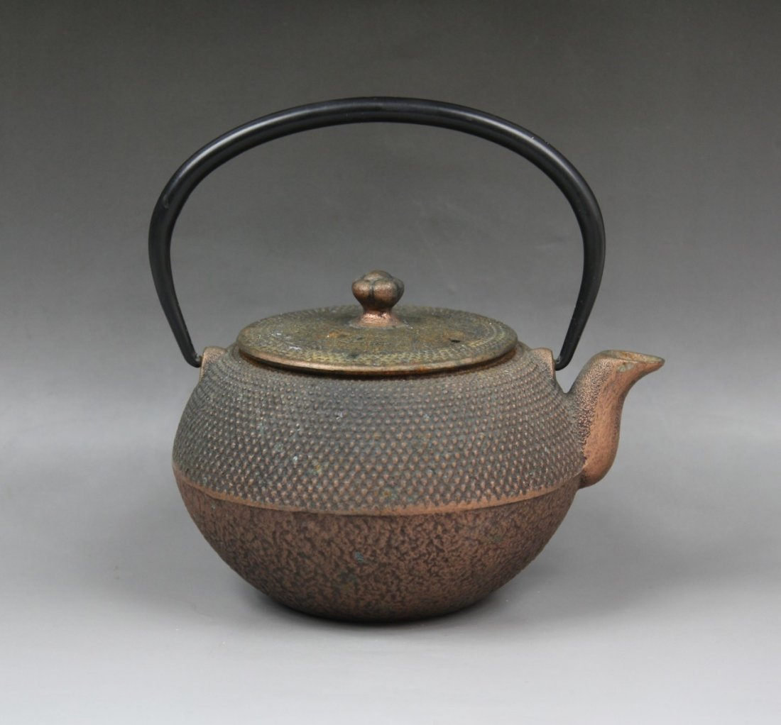 13: A Japanese Antique Iron Teapot