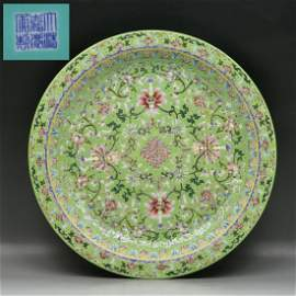 156: A Massive Chinese Famille Rose Plate