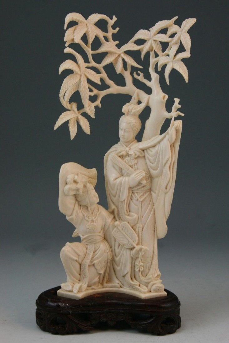 179: Chinese Carved Ivory Beauties
