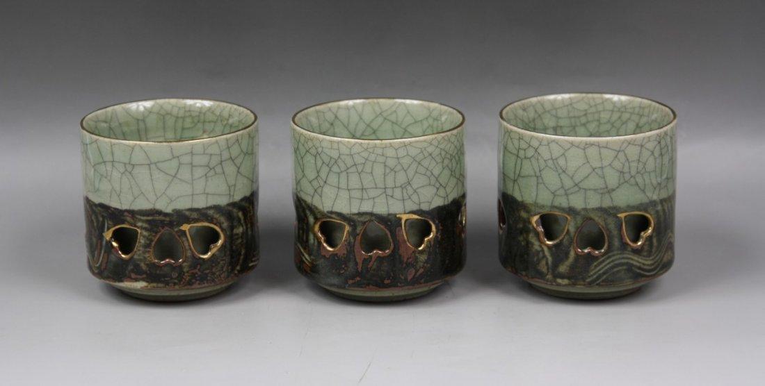 5: Three (3) Japanese Antique Porcelain Cups