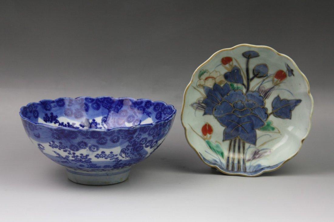 10: Two Japanese Antique Imari Porcelain Bowls