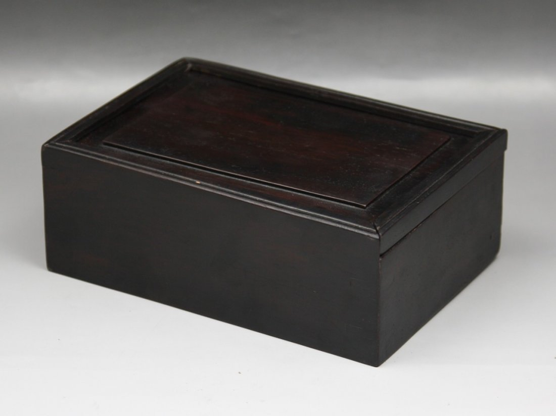 22: A Dark Wood Trinket Box With Cover