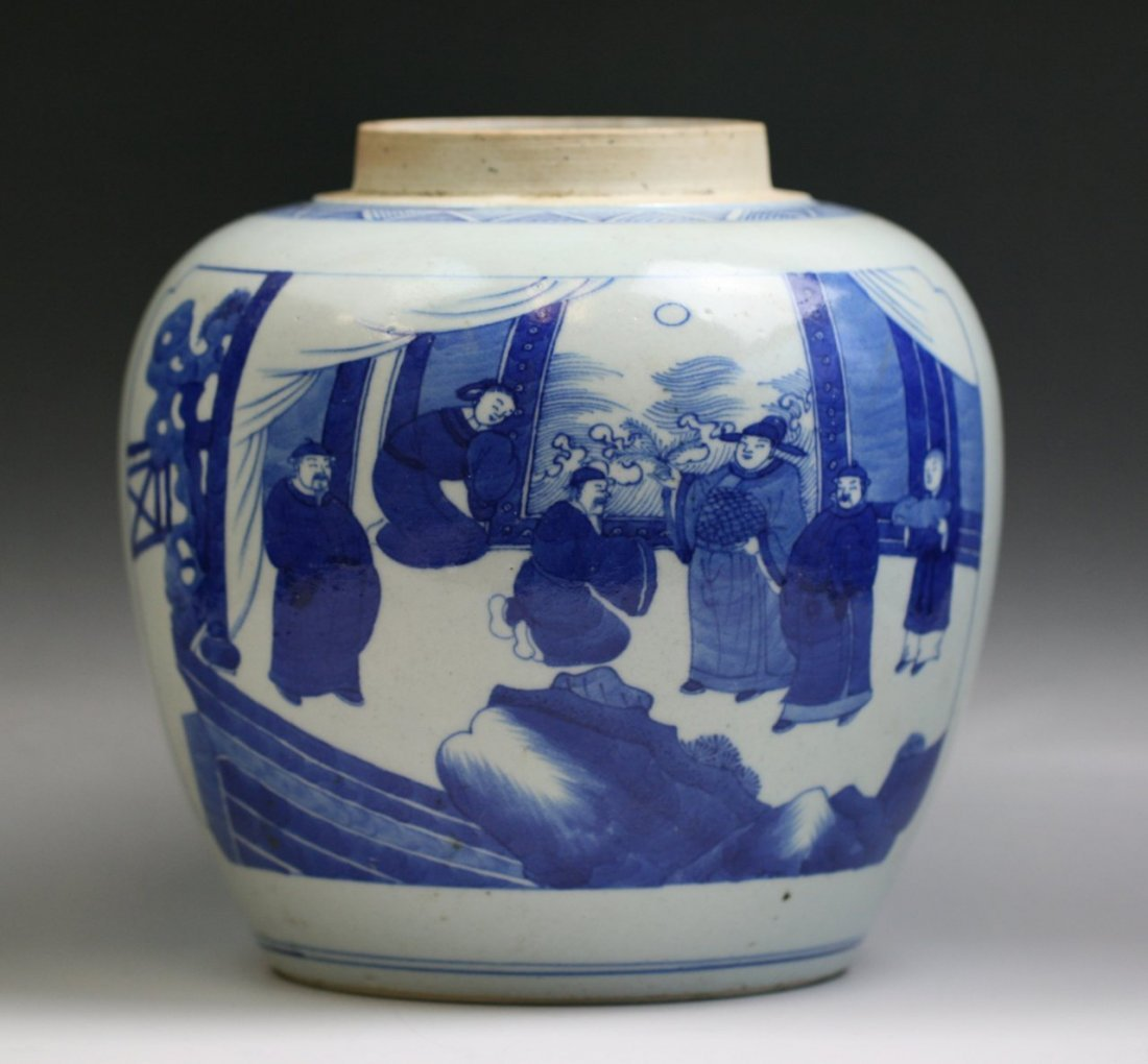 150: A Chinese Antique Blue & White Porcelain Jar