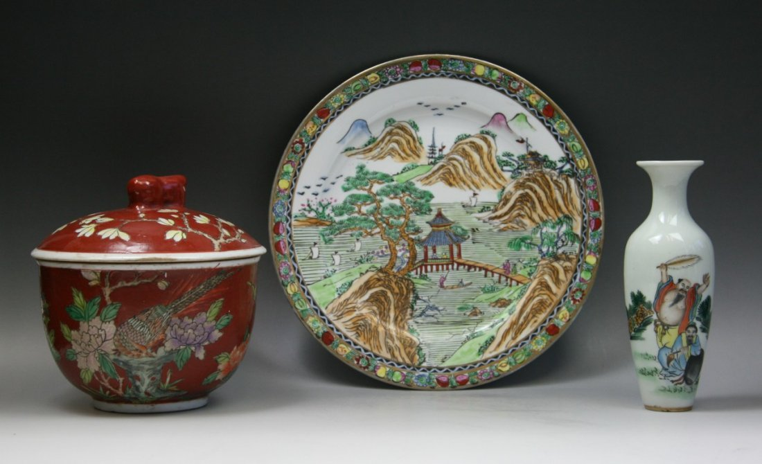 Three Chinese Antique Porcelains