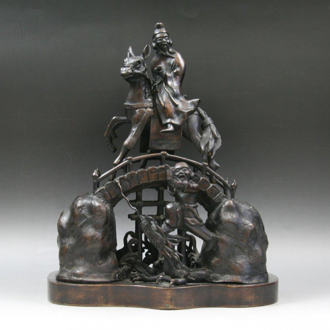 An Antique Bronze Figure Group