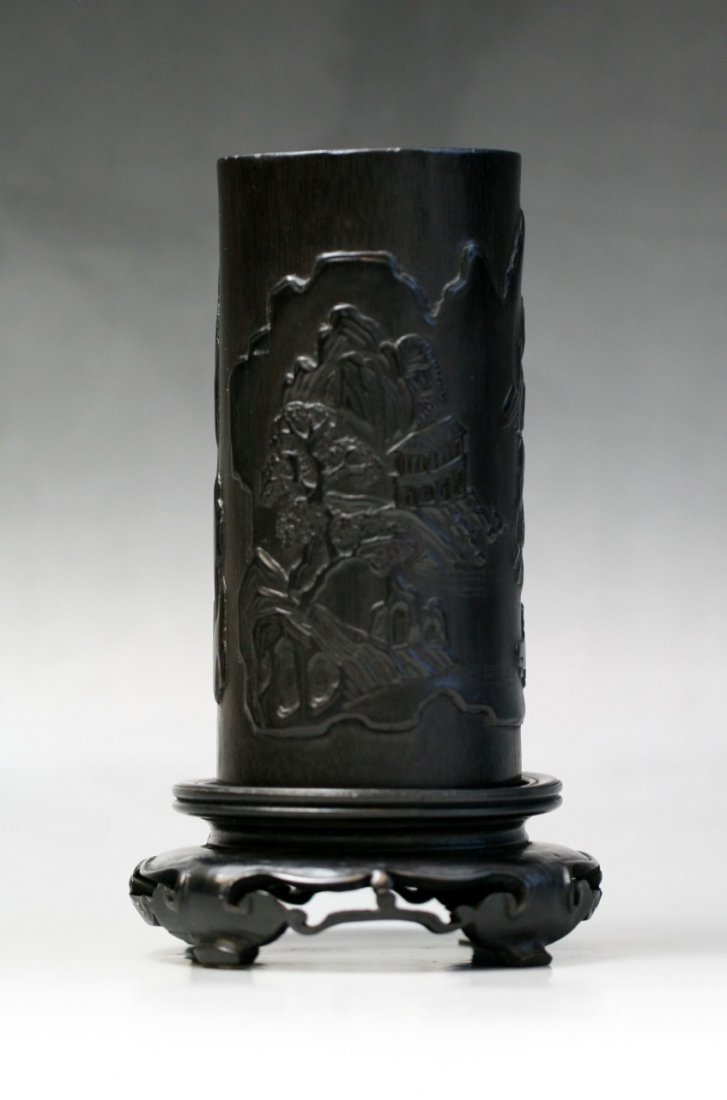 A Chinese Antique Bamboo Brushpot