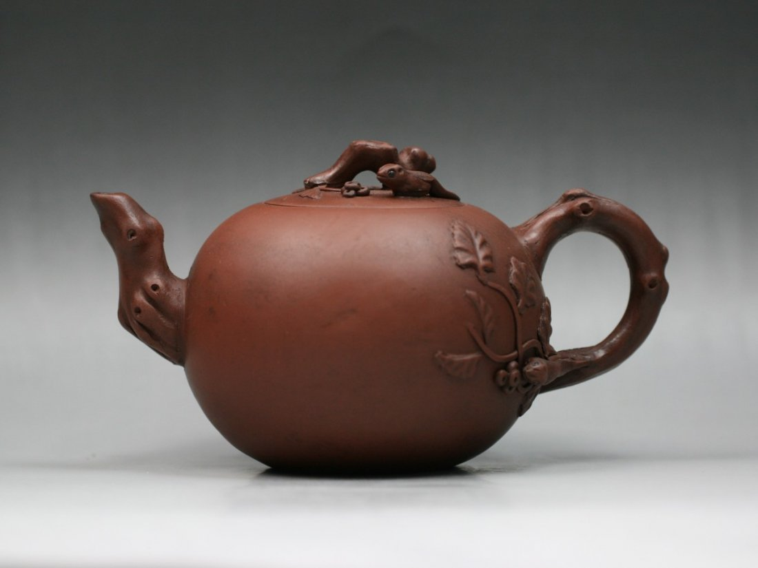 A Fine Yixing Purple Clay Zisha Teapot