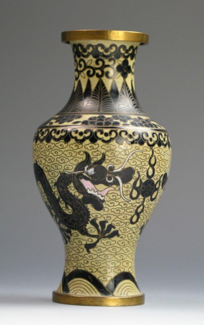 A Chinese Antique Cloisonne Bonze Vase