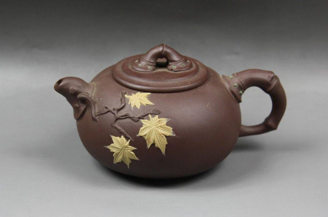 A Chinese Zisha Teapot